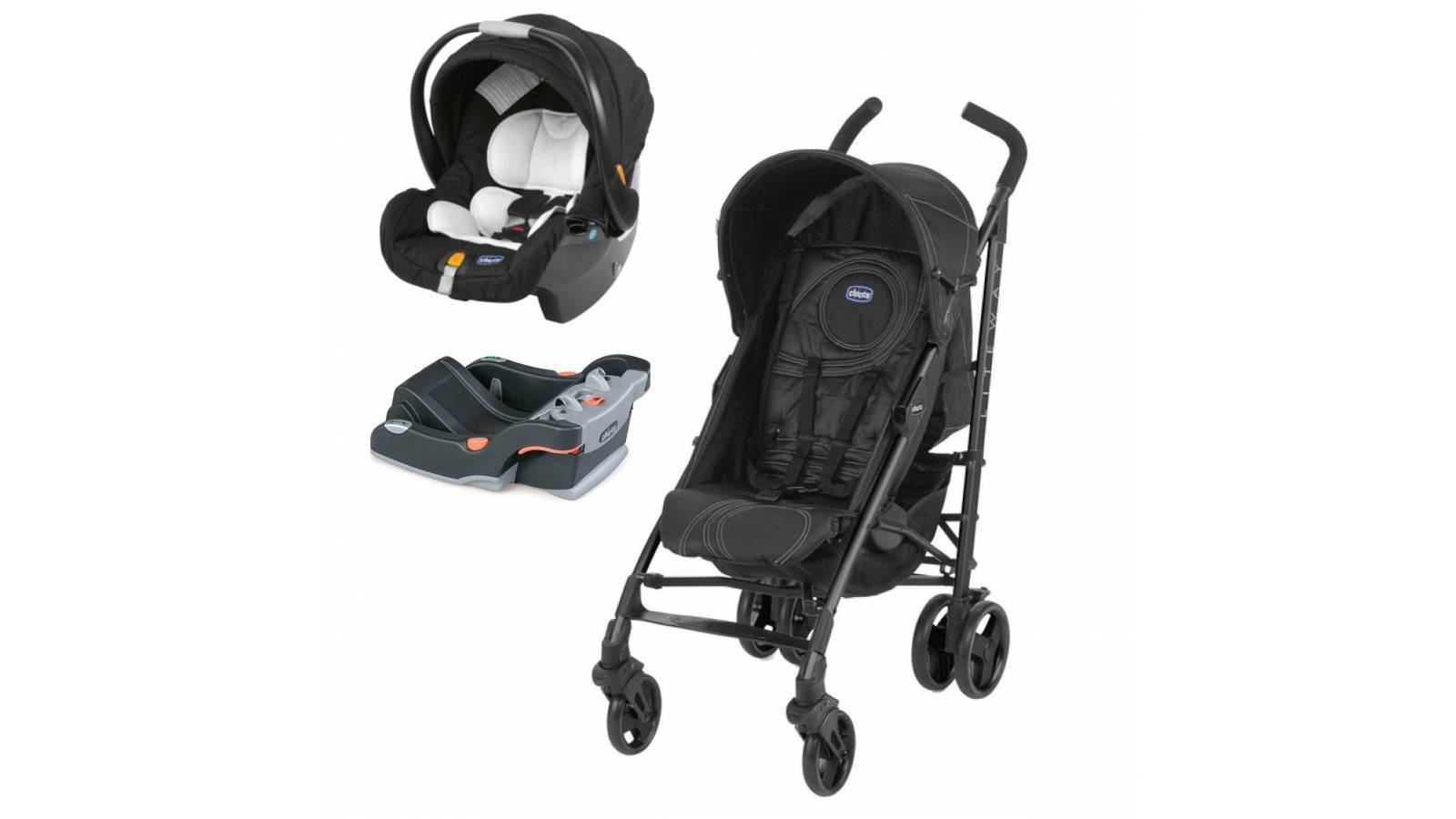 LITE WAY PLUS TRAVEL SYSTEM NEGRO CON BASE