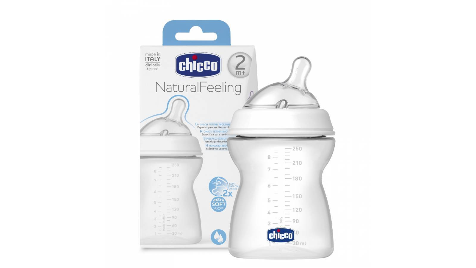 BIBERÓN NATURAL FEELING 250ml BPA FREE