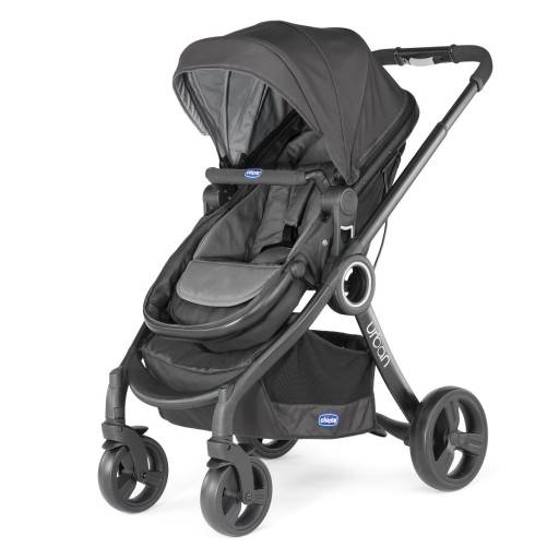 URBAN STROLLER + PACK COLOR NEGRO Y GRIS