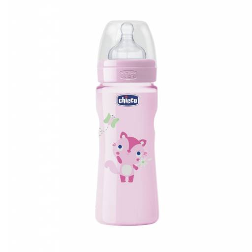 BIB. 330ml  T. SIL. MED  0 BPA - COLOR ROSADO